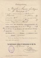 AMTSQUITTUNG Ausgestellt Wien 1909, A3 Format, Größe 34 X 21 Cm, Dok.gefaltet - Historische Dokumente
