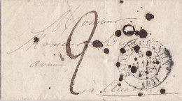 Bg - Timbre à Date Type 13 - St Florentin 5 Mars 1838 Pour Auxerre 8 Mars 1838 - Marcophilie (Lettres)