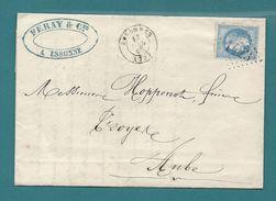 Seine Et Oise - Essonnes Pour Troyes (Aube). CàD Type 15 + GC - Marcophilie (Lettres)