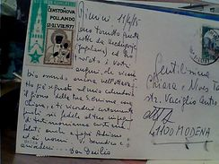 ESPERANTO ADESIVO CENSTOHOVA POLLANDO 1977  VB1985  GD14696 - Esperanto