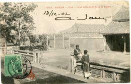 INDOCHINE CARTE POSTALE AVEC OBLITERATION TOURANE 13 DEC 07 ANNAM POUR LA FRANCE - Postales