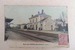 GARE DE PONT DE BRAYE AVEC ANIMATION TRAIN ET CACHET AMBULANT - France