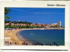 -  SAINTE -MAXIME - ( Var) - Plage Du Centre Ville, Grand Format, écrite, TBE, Scans. - Sainte-Maxime
