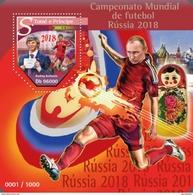 SAO TOME E PRINCIPE 2015 SHEET RUSSIA 2018 WORLD CUP FOOTBALL SOCCER FUTBOL SPORTS DEPORTES St15515b - São Tomé Und Príncipe
