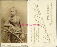 CDV Jeune Fille-mode-jolie Robe-photo Léopold Dubois à Poitiers - Photographs