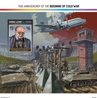 SIERRA LEONE 2017 - Cold War, W. Churchill S/S. Official Issue. - Sir Winston Churchill