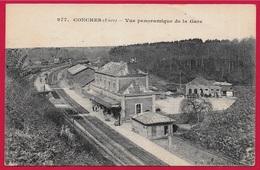 CPA 27 CONCHES Eure - Vue Panoramique De La GARE ° Edit. Mouyna - Conches-en-Ouche