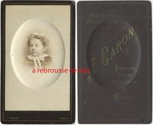 CDV En 1879 Enfant-portrait En Camée Bombé-photo J. Caron à Nancy-Aristotypie Et Chromotypie - Fotos