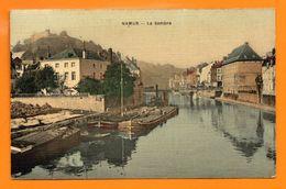Namur. La Sambre, Péniches. 1909 ( Papier Gaufré). - Namur