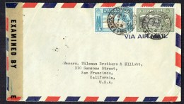 1944 Air Letter To USA SG 250, 253  US Censor Tape - Trinidad & Tobago (...-1961)