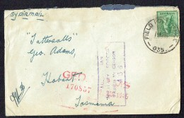 1945 Air Letter To Tattersalls  From Field PO 035  Aust. Military Censor Mark - Lettres & Documents