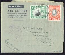 1945  Army Air Letter To UK  - UK Censor Mark - Kenya, Uganda & Tanganyika