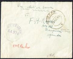 1945 Soldier's Letter To Uganda From FPO 18 (Chittagong) - Military Censor - Kenya, Uganda & Tanganyika