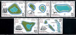 "Kiribati    ""Maps""    Set    SC# 475-79   MNH   SCV$ 21.00 - Kiribati (1979-...)"