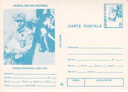 1993 , Romania , Airman Mircea Zorileanu , WWI , Pre-paid Postcard - Roemenië
