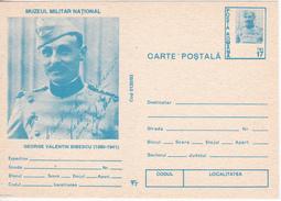 1993 , Romania , Gheorghe Valentin Bibescu , WWI , Pre-paid Postcard - Roumanie