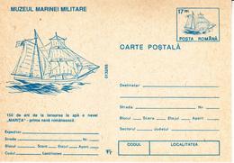 1993 , Romania , 150 Years Og The First Romanian Ship Marita  , Pre-paid Postcard - Romania