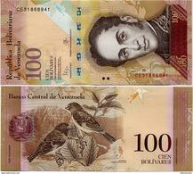 VENEZUELA    100 Bolívares      P-93[j]       5.11.2015       UNC - Venezuela