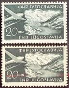 YUGOSLAVIA  - JUGOSLAVIA  -  ERROR - 20 Din Perf. L 12½  - **MNH - 1951 - Luftpost
