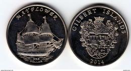 GILBERT ISLAND 2014 Mayflower 1 Dollar $ UNC - Monnaies