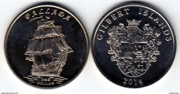 GILBERT ISLAND 2014 Pallada 1 Dollar $ UNC - Monnaies
