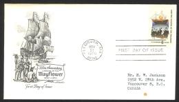 USA Sc# 1420 (Artmaster) FDC Single (a) (Plymouth, MA) 1970 11.21 Mayflower - Ersttagsbelege (FDC)