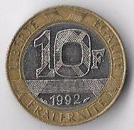 France 1992 10 Francs (medal Alignment) [C516/2D] - K. 10 Francs