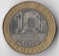 France 1990 10 Francs (1) [C517/2D] - K. 10 Francs
