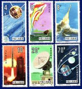 China 1986 T108 China's Space Flights Stamp Set MNH ! - 1949 - ... Repubblica Popolare
