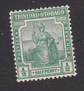 Trinidad And Tobago, Scott #1, Mint Hinged, Britannia, Issued 1913 - Trinidad & Tobago (...-1961)