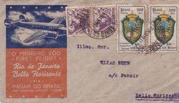 Brazil Rio De Janeiro - Bello Horizonte Panair 1937 First Flight Cover - Brazil