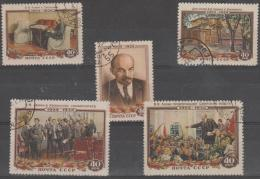 RUSSIA - 1954 30th Anniversary Death Of Lenin. Scott 1694-98. Used - Used Stamps