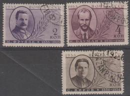 RUSSIA - 1935 Heroes, Perf 14. Scott 580-582a. Used - Gebraucht