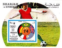 IMPERFORATED. SHARJAH. FOOTBALL. WORLD CUP 1974. SS** I2017. 0.4v - Coppa Del Mondo