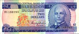 BARBADES 2 DOLLARS De 1980nd Pick 30 XF/SUP - Barbados