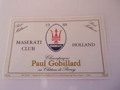 CHAMPAGNE PAUL GOBILLARD     CUVEE   MASERATI CLUB HOLLAND   ****** RARE    A   SAISIR **** - Champagne
