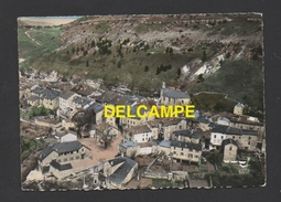 DF / 48 LOZERE / BARRE DES CEVENNES / VUE GENERALE AÉRIENNE, L'EGLISE, LE TEMPLE, LE GROUPE SCOLAIRE / CIRCULÉE EN 1950 - France