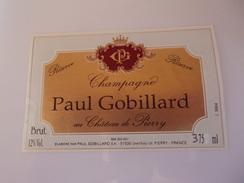 CHAMPAGNE PAUL GOBILLARD   RESERVE     37.5 CL   *****    RARE   A    SAISIR  ****** - Champagne