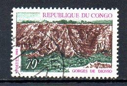 CONGO. N°252 Oblitéré De 1970. Gorges De Diosso. - Congo - Brazzaville