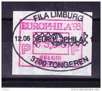 BELGIQUE COB ATM 89 EUROPHILA 1993, 99 Fr OBL  . (7A91) - Frankeervignetten