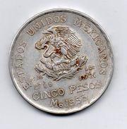 Messico - 1953 - 5 Pesos - Argento - Vedi Foto - (MW116) - Messico
