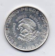 Messico - 1955 - 5 Pesos - Argento - Vedi Foto - (MW117) - Messico