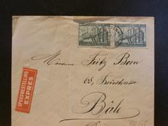 72/565  LETTRE BELGE EXPRESS   POUR LA SUISSE  1950  VERSO OBL. TELEGRAPH BASEL 2 - Belgien