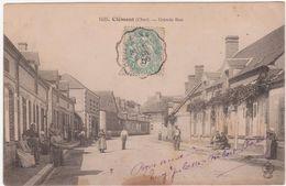 Cpa 18- Clémont- Grande Rue (circulé En 1906) - Clémont