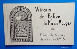 49 - Carnet Complet :  12 Cartes -  Vitraux De L'Eglise Du PIN En MAUGES - Episode Des Guerres De Vendée 1793 - France