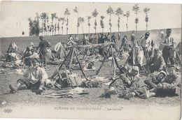 Guerre 14-18/ Scénes De Manoeuvres/La Sieste/ELD/ Le Mans / 1916        CPDIV255 - Manoeuvres
