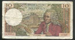 FRANCE  =  1 BILLET  DE 10 FRANCS DU 7-8-1969 - 1962-1997 ''Francs''
