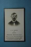Joseph Delgrange épx Main Froidchapelle 1909 1932 /38/ - Images Religieuses