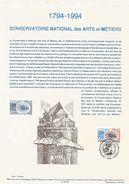 DOCUMENT 1994 BICENTENAIRE CONSERVATOIRE ARTS ET METIERS - Documenti Della Posta