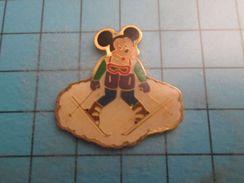 Pin516a Pin´s Pins / Beau Et Rare : MICKEY FAISANT LE CHASSE NEIGE Le Planter De Bâton , Monsieur Dusse !!!  Marquage Au - Disney